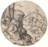 Lucas van Leyden / The Round Passion:Christ Carrying the Cross / 1509