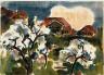 Karl Schmidt-Rottluff / Blossoming Trees / 1930/1933