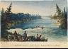 George Back / Loss of the Third Canoe at the Barrier Rapid, Kamanatekwoya River / 1825