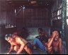 Leo Rubinfien / Laborers in a Hut, Yogyakarta, from the portfolio Map of the East / 1979-1987