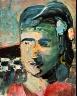 Richard Diebenkorn / Head of a Woman II / 1960