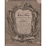 Henry Copland / TRADE CARD of Benjamin Rackstrow, figure-maker / Dated 1738