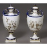 Derby Porcelain Factory / PORCELAIN VASE (one of a pair) / 1778 - 1780