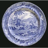 Spode / PLATE with Indian sporting scene / about 1815