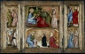 Austria, Salzburg, 15th Century / St. Christopher and St. Erasmus; St. Barbara and another female saint / c. 1424