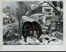 James Merritt Ives / Straw-yard, Winter / 1800s