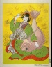 Paul Jacoulet / Ebisu, God of Happiness, Personified by a Courtesan of Shimabara, Kyoto / 1952