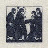 Eric Gill / Christmas card: Nativity with Midwife..., from 72 unsigned prints on Japanese paper from a set of 80, issued as extra set for 80 copies of the book (numbered 1-80 and signed): pl. 1; D.14; / 1913