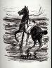 Max Liebermann / Nude Rider at the Beach / 1908