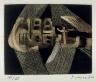 Fernando de Szyszlo / Instrumentos de cuerda  (STRINGED INSTRUMENTS), accompanying  the second poem in the book Artificio para sobrevivir - Device for Survival  by Emilio Adolfo Westphalen (San Diego: Brighton Press, 1992) / 1992