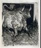 Pablo Picasso / Le taureau (The bull), pl. 4, from the book Picasso/Eaux-fortes originales pour des textes de Buffon (Picasso/Original Etchings for the Texts by Buffon) (Paris: Martin Fabiani, 1942) / 1941 - 1942