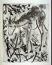 Pablo Picasso / Le cerf (The red deer), pl. 9, from the book Picasso/Eaux-fortes originales pour des textes de Buffon (Picasso/Original Etchings for the Texts by Buffon) (Paris: Martin Fabiani, 1942) / 1941 - 1942