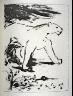 Pablo Picasso / Le lion (The lion), pl. 11, from the book Picasso/Eaux-fortes originales pour des textes de Buffon (Picasso/Original Etchings for the Texts by Buffon) (Paris: Martin Fabiani, 1942) / 1941 - 1942