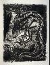 Pablo Picasso / Le lézard (The lizard), pl. 28, from the book Picasso/Eaux-fortes originales pour des textes de Buffon (Picasso/Original Etchings for the Texts by Buffon) (Paris: Martin Fabiani, 1942) / 1941 - 1942