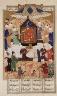 "Iran, Shiraz / Khusraw Parviz Enthroned, From a Manuscript of the Khamsa of Nizami (""""Khusraw and Shirin"""") / first half 16th century"
