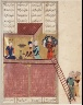 """Iran, Shiraz / Bahram Gur and the Slave Girl:  """"""""Practice Makes Perfect"""""""", a Page from the Khamsa of Nizami (Haft Paykar or """"""""Seven Portraits"""""""") / 1517/A.H. 924"""