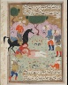 Iran, Shiraz / A Scene of Flaying; Page from a Manuscript of the Majalis al' Ushshaq (The Conferences of Lovers) / circa 1590-1600