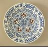 Turkey, Iznik / Plate / 1585-1590
