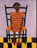 William H. Johnson / Little Girl in Orange / ca. 1944