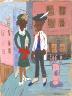 William H. Johnson / Street Life, Harlem / ca. 1939-1940