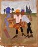William H. Johnson / New Land Breaking / ca. 1941-1942