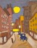 William H. Johnson / Harlem Street Scene with Full Moon / ca. 1939-1940