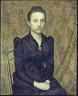Georges Lemmen / Portrait of the Artist's Sister / 1891