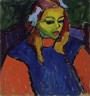Alexei Jawlensky / Girl with the Green Face / 1910