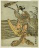 Katsukawa Shunsho / A page from the illustrated book Yakusha Kuni no Hana (Prominent Actors of Japan) / Edo period, Ca. 1771-1772