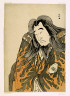 Katsukawa Shunko / Half-length portrait of the actor Onoe Matsusuke I as Retired Emperor Sutoku in act three of the play Kitekaeru Nishiki no Wakayaka (Returning Home in Splendor) / Performed at the Nakamura Theater from the first day of the eleventh month, 1780