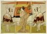 Katsukawa Shunsho / The actor Otani Hiroji III as Yokambei, in the last scene from the play Shinodazuma (The Wife from Shinoda Forest)... / Edo period, 1776