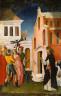 Antonio Vivarini / Saint Peter Martyr Exorcizing a Woman Possessed by a Devil / 1440/50
