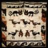 Nazca Culture / Tunic depicting Felines and Birds / 200/400 A.D.