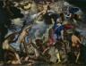 Joachim Antonisz. Wtewael / The Battle between the Gods and the Titans / c. 1600