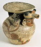 Peruvian / Small Vessel with Human and Animal Heads / ca. 300 - 500 A.D.