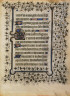 Anonymous / Psalter Leaf with Ivy Pattern / ca. 1400