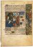 Anonymous / Page from a Book of Hours: Adoration of The Magi / ca. 1500