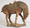Chinese / Horse Nuzzling His Leg / 2nd half of 7th century A.D.