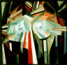 Alexander Bogomazov / Cubist Head / 1914-15