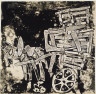 Jean Dubuffet / Donkey and Cart / 1955