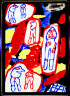 Jean Dubuffet, French, 1901-1985 / Site avec 6 personnages / 1981