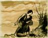 Augustus Edwin John / Woman Gathering Sticks / 1906