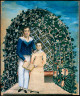 Unidentified artist, 19th century / Two Children in an Arbor of Flowers / 19th Century