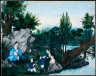 Unidentified Artist / Family outing beside a Stream / not dated
