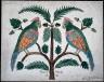 Unidentified Artist / Two Parrots on an Oak Tree / 1847