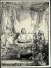 Rembrandt van Rijn / Christ at Emmaus: The Larger Plate / 1654