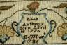 Ann Anthony / Sampler / 1786