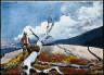 Winslow Homer / Woodsman and Fallen Tree / 1891