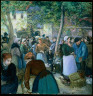 Camille Pissarro / Poultry Market at Gisors / 1885