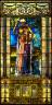 "John LaFarge / Window ""Infant Bacchus"" / Late 19th c"